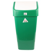Click for a bigger picture.xx Lucy Swing Bin 50LTR Green