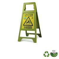 Click for a bigger picture.xx ''Caution Wet Floor'' Sign  - Made with 100% Recycled Plastic