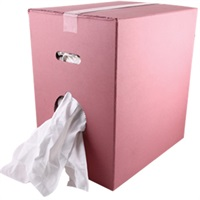 Click for a bigger picture.White Towelling Rags (Box) 10kg